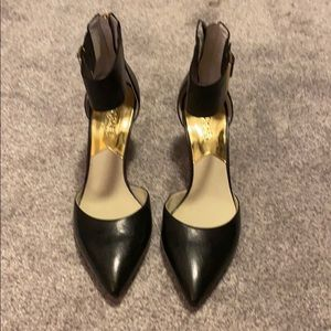 Black Michael Kors Heels with gold buckle